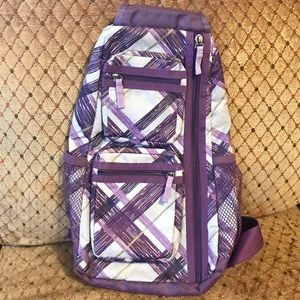 Handbags - Pastel Purple, Yellow & White Geometric Sling Bag